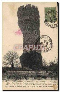Postcard Old Gallardon Eure et Loir Ruin the Shoulder of a tower of the old c...