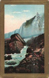 Circa 1912 Embossed Framed Waterfalls, N.Y. Postcard