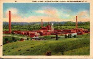 West Virginia Parkersburg American Viscose Corporation Plant Curteich