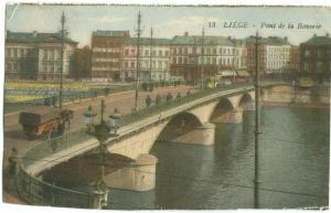 Belgium, Liege, Pont de la Boverie, early 1900s unused Postcard CPA