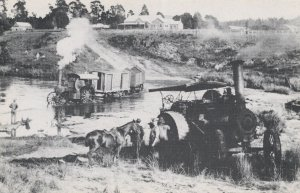 Military Steam Traction Engines in South Africa Postcard