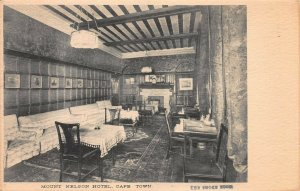 Smoke Room, Mt. Nelson Hotel, Cape Town, South Africa, Early Postcard, Unused