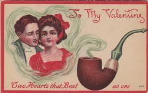 Valentine's Day Romantic Couple In Pipe Smoke 191