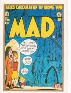 Lime Rock Trade Card Mad Magazine Cover Issue No 1 Oct-Nov 1952