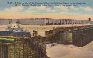 Tennessee Oak Ridge View Of One Of The Process Buildinsg and Cooling Tower Cu...
