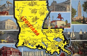 Maps Louisiana USA Unused