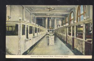 CHATTANOOGA TENNESSEE FIRST NATIONAL BANK INTERIOR 1915 POSTCARD HOUSTONIAMO