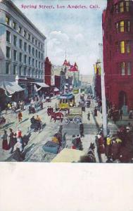 Spring Street, Los Angeles, California, 1900-1910s