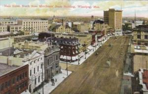 Canada Winnipeg Main Street North From Merchants Bank Building