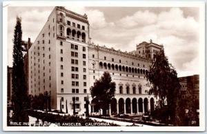 Los Angeles, California RPPC Real Photo Postcard BIBLE INSTITUTE OF LA c1930s