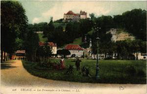 CPA URIAGE - Les Promenades et le Chateau (652718)