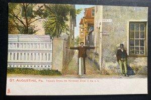 Mint St Augustine FL USA Picture Postcard Treasury Street