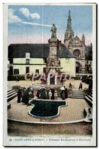 Old Postcard Sainte Anne D Auray Miraculous Fountain and Basilica