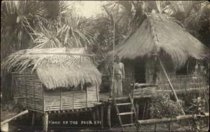 Corregidor Cavite Philippines Cancel Home of the Poor Real Photo Postcard spg