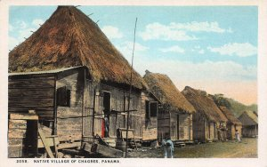 Native Village of Chagres, Panama, Early Postcard, Unused