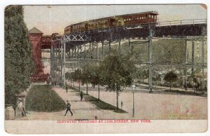 Elevated Railroad At 110th Street, New York