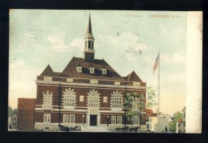 Early Concord, New Hampshire/NH Postcard, City Hall*