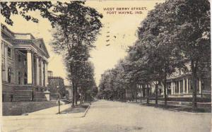 Indiana Fort Wayne West Berry Street 1909