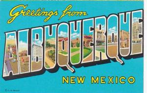 New Mexico Albuquerque Greetings From