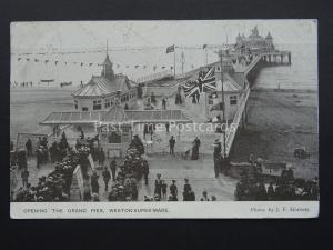 Somerset WESTON SUPER MARE - THE GRAND PIER Opening Ceremony c1904 Postcard