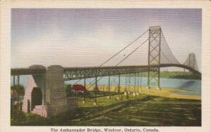 The Ambassador Bridge , WINDSOR , Ontario , Canada , 30-40s