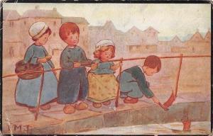 Children Dutch? Costumes, Boats, C.W. Faulkner 1914
