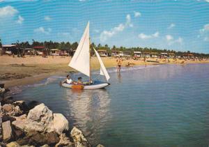 Sail Boat, Beach, Motel Camping, Jesolo-Pineta, Venezia, Venice, Veneto, Ital...