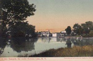 KENOZA LAKE, New York, PU-1909; View Towards The Outlet
