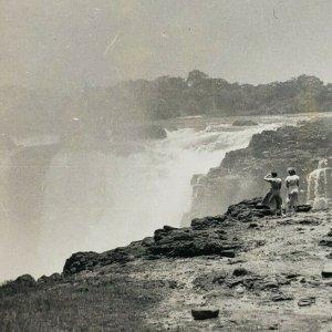 Victoria Falls Rhodesien Wasserfall Zambezi Fluss Mosi-Oa Tunya Vtg 1955 Fot D94