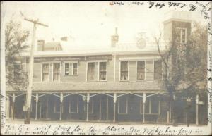 Dunning IL Joseph Charles Hanson Restaurant c1910 Real Photo Postcard