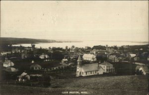 Lake Benton MN Birdseye View 1914 Used Real Photo Postcard
