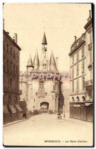 Old Postcard Bordeaux La Porte Caillau