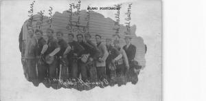 ANTWERP, OHIO THE  REDS EARLY 1900'S BASEBALL TEAM WITH EQUIPMENT RPPC