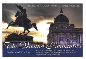 US Marine Chamber Orchestra Concert Vienna Romantics Advert