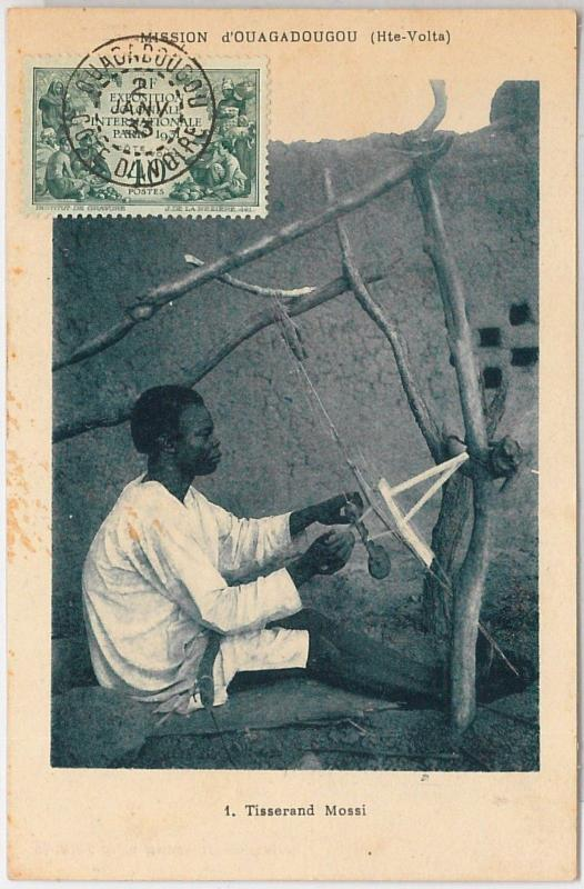 AOF Ivory Coast - Côte d'Ivoire -  POSTAL HISTORY: Ethnic Postcard 1933