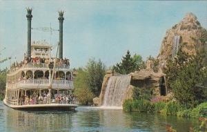 Disneyland Mark Twain Steamboat Passing Cascade Peak