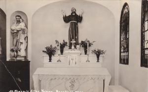 Massachusetts Brookline St Francis Altar Friary Real Photo