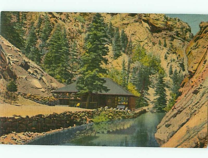 Colorado Springs CO 2166 Trout Pool Pavilion At Seven Falls Postcard # 5546