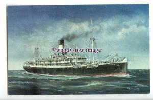 LS1118 - Lamport & Holt Line Liner - Vauban - artist R G Lloyd - postcard