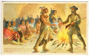 Indian Chief Sleepy Eye MN Meritorious Flour Advertising Postcard