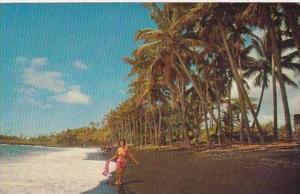 Hawaii Honolulu Black Sand Beach