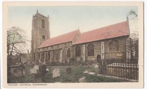 Norfolk; Parish Church, Fakenham PPC, RA Series, Unused, c 1910's