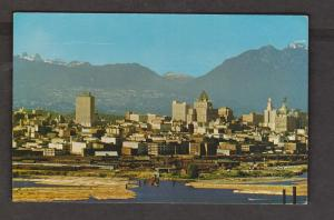 View Of False Creek, Skyline & Mountains, Vancouver, BC - Unused c1965