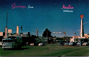 California Indio Greetings Showing Street Scene