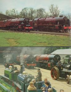 Duchess Of Sutherland Royal Scot Train Bressingham Steam Museum 2x Postcard