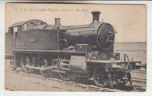P2109, old postcard railroad steam GWR coupled tank locomotive #1321