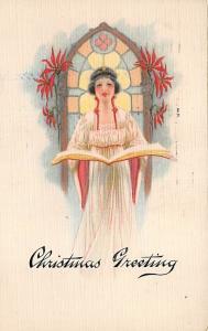 Christmas Post Card Old Vintage Antique Xmas Postcard 1919
