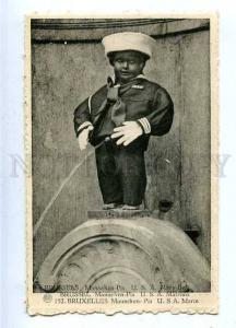 185721 Brussels MANNEKEN PIS Dressed USA NAVY Boy Vintage PC