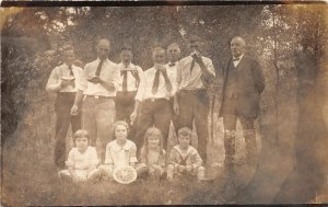 F47/ Interesting Real Photo RPPC Postcard Eating Watermelon c1920s Group 12