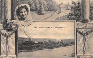 E81/ Bridgeport Ohio Postcard 1909 Fancy Border Aetna Rolling Mills Factory 23